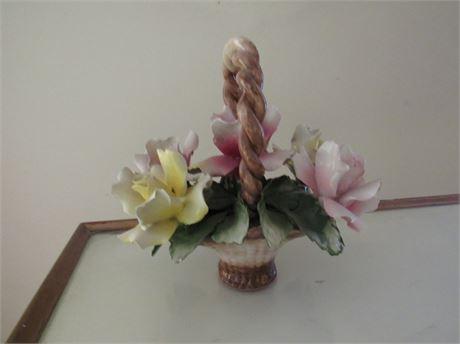 Capodimonte Flower Basket