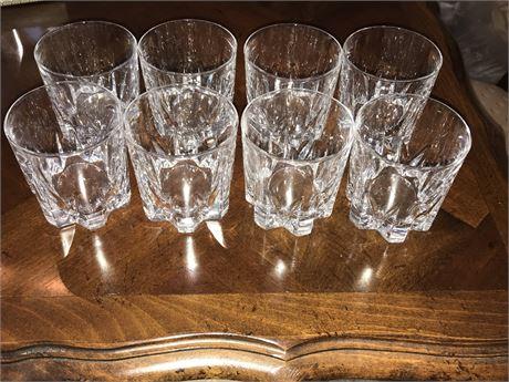 Set of 8 Crystal Rocks Glasses