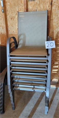 Patio Chairs - Set of 8