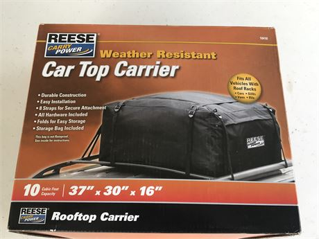 Reese Carry Power Car Top Carrier - new in box
