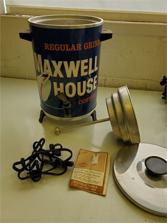 Vintage Maxwell House Coffee Percolator WestBend