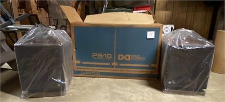Design Acoustics PS-10 Speakers - new in original box