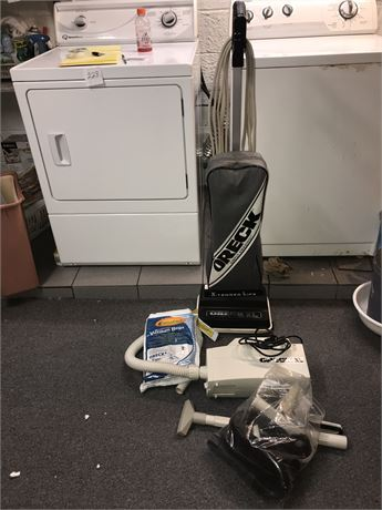 Oreck Vacuum with bags and Oreck Hand Held Vacuum and parts