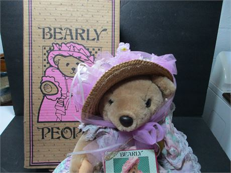 Vintage 1991 Bearly People NIB Country Bear Collectible Doll