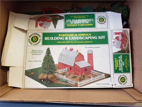 Bachmann Building & Landscaping Kit for HO scale layouts