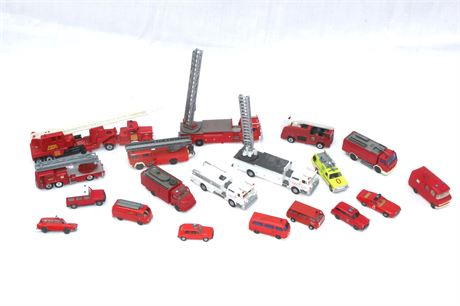 Fire Truck Toy Car Group Lot
