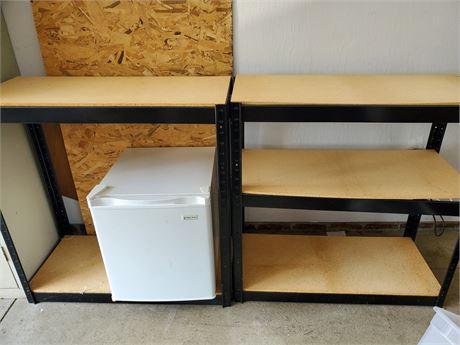2 Metal Storage Shelves