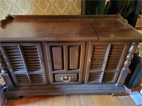 Allegro by Zenith Console Stereo 8 Track Phono