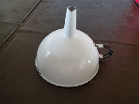 Antique Enamel Funnel
