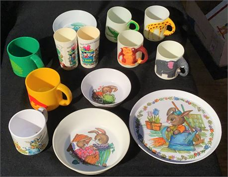 Beatrix Potter Peter Rabbit Child's Bowls and Cups and More
