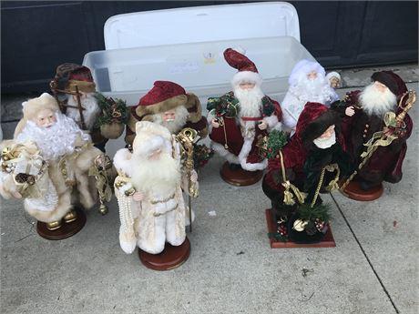 Standing Santa Claus Figures