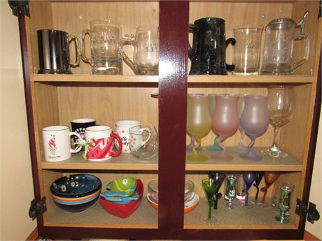 Glassware, Mugs, Bowls - Cupboard Clean Out