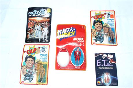 Mork and Mindy, CHIPS, E.T. Vintage Action Figure Group Lot and MORE!!!