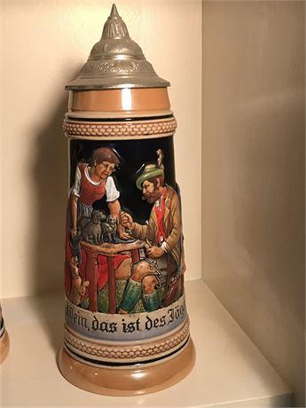 Antique German One Liter Beer Stein