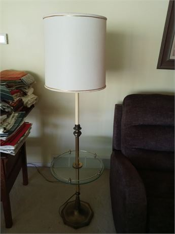Combination Floor Lamp/Tray Table