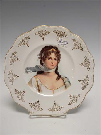 Limoges Queen Louise Royal Vienna Portrait Cabinet Plate