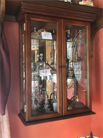 Hanging 3 Shelf Display Cabinet (contents NOT included)