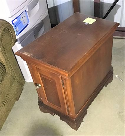 Wood Side Table With Storage Cabinet And Drop Leaf Side Table