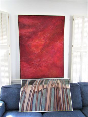 Original Acrylic Paintings on Canvas Signed By Artist