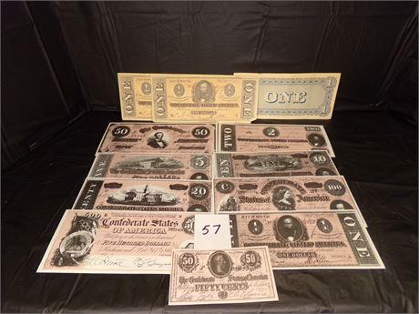 Confederate currency Copies