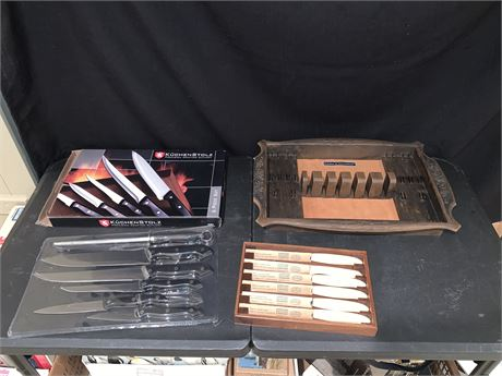 Vintage Camillus Cutlery Stainless Steak Knives and More