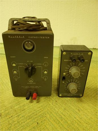 Heathkit Capaci-Tester + Resistance Substitution Box