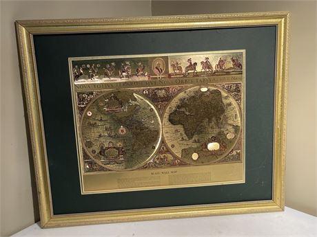 Framed Blaeu Wall Map