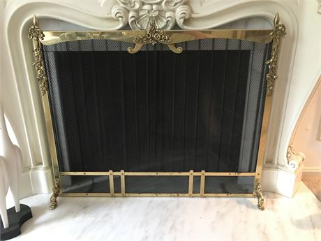 Fantastic Brass Fireplace Screen