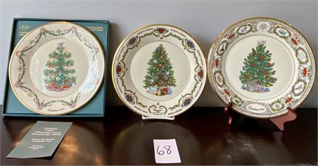 """Lenox """"Christmas Trees Around the World"""" Limited Edition Annual Plates"""