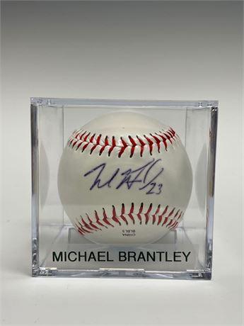 Michael Brantley Autographed Baseball