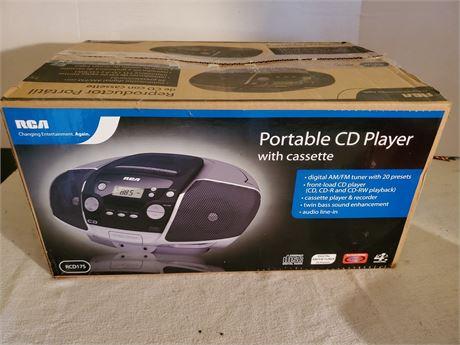 RCA CD Player w/ Cassette RCD175 NEW