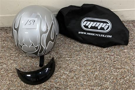 MMG Motorcycle Helmet with Bag and Visor - Size XL