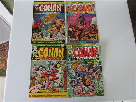 Conan the Barbarian Comic Lot: Vol1: 32, 25, 19, 15