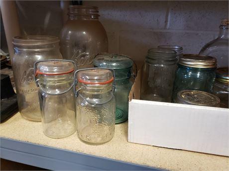 Canning glass lot