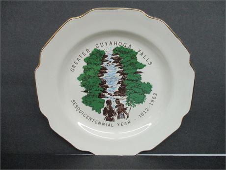 "Vintage 1812-1962 Cuyahoga Fall Sesquicentennial 10"" Plate"