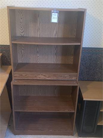 Matching Pair of Wood Bookshelves