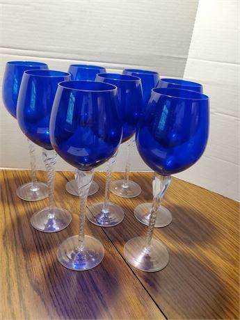8 Gorgeous Cobalt Wine Goblets
