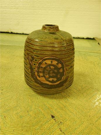 Vintage Pottery Snail Vase