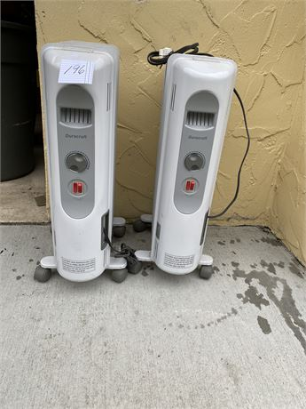 Two Duracraft Portable Heaters in Working Condition