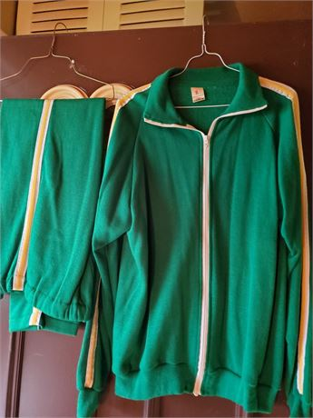 """Vintage Original """" Warm Up """" Track Suit Made In The United States"""