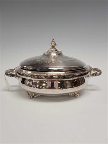 Victor Silver Company Silver Plate Casserole Dish