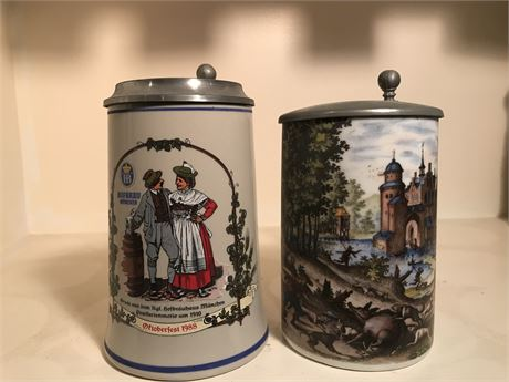 Two Late 20th Century W. German Beer Steins