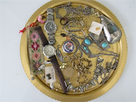 Costume Jewelry Lot. Tray NOT included