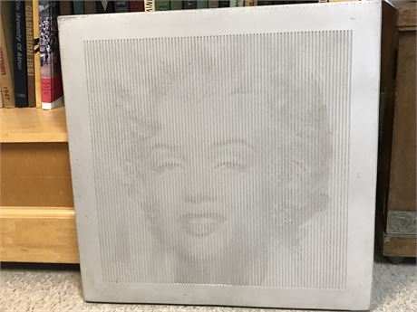 Marilyn Monroe Directional Image on Concrete - Artist signed & dated