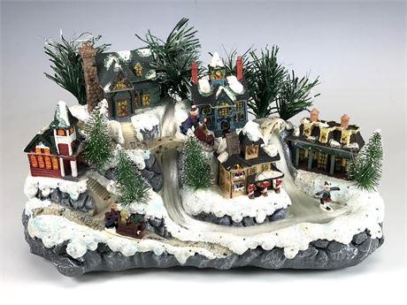Fiber Optic Christmas Village by Avon in Box