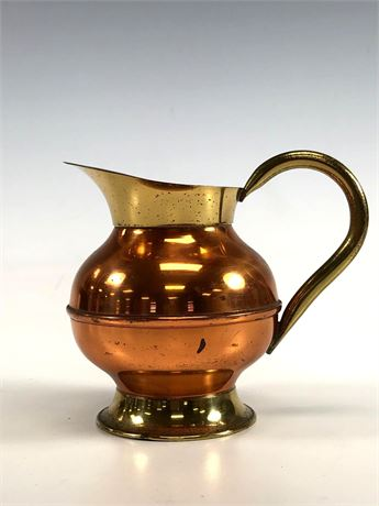 Copper and Brass Creamer made in Holland