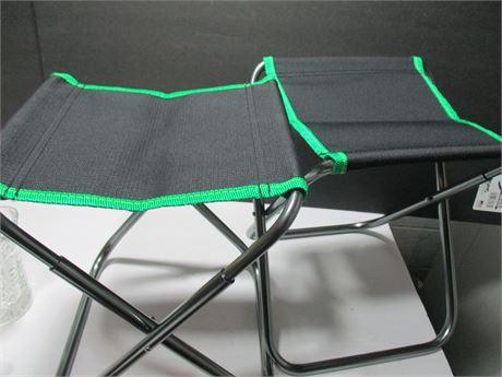 """2 New 9"""" Seat Short Mini Sport Seats W/ Bags"""