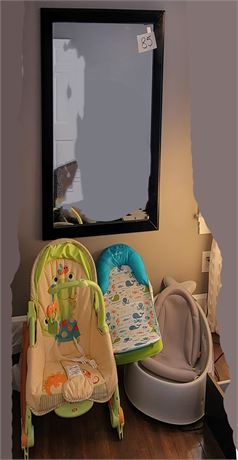 Wall Mirror & Baby Carriers