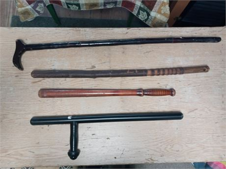 Nightstick, cane, clubs