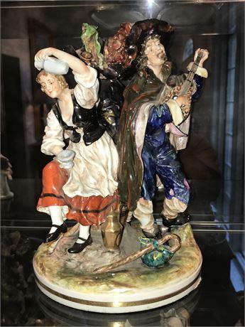 Large Antique German Porcelain Figure